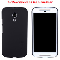 "Black Nillkin Hard Skin Case Cover For Motorola Moto G 2 2nd Gen Generation 5"" + Screen Protector New free shipping"