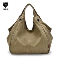 Hot woman canvas bag 2014 new outdoor leisure handbag shoulder bag dumpling bag travel bag free shipping