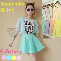 Preppy Style Braces Skirt Female 2014 Ice Cream Suspender Skirt Short School Skirt Female S39