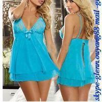 Hot Sales Women's Lingerie Lace Nightwear Dress Underwear Babydoll G-String Sleepwear