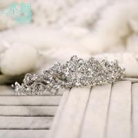 Bridal crytal hair jewelry Korean wedding large crown wedding hair accessories beautiful bride free shipping