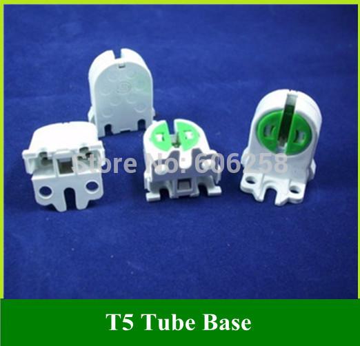 T5 Fluorescent Lamp Holder / T4 T5 Tube Lamp Base 20pcs Free Shipping(China (Mainland))