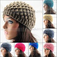 FREE SHIPPING,New Women Ear Warmer Headband Hand Crafted Hairband Pineapple needle Headwrap
