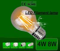 LED Filament  light E27 4W 8W AC220V bulb lamp ,Energy Saving 360 degree warm white/white 5pcs free shipping