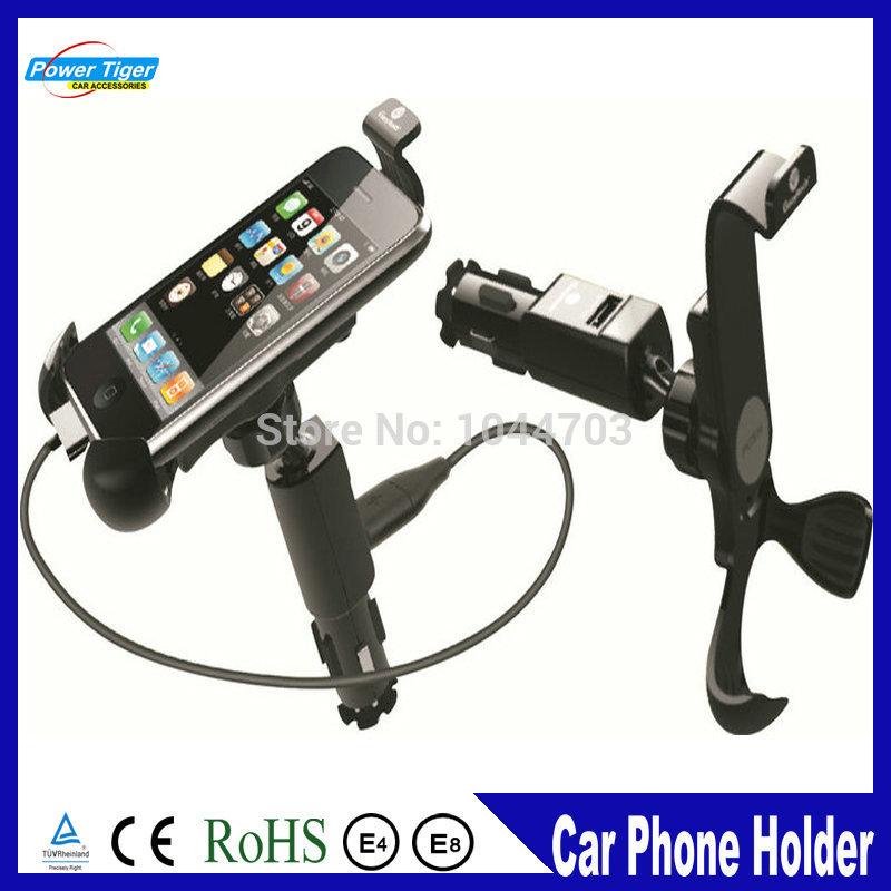 Universal Car Phone Holder Mount Holder Stand Bracket Kit 1000mA USB Charger WF-630(China (Mainland))