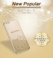 For iphone5/5s case Ultra-thin soft Golden Minnie mickey stitch KT cat cell phone cases covers Free Shipping