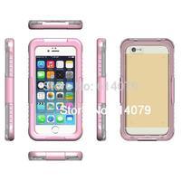 IP68 Waterproof Dustproof Shockproof Bumper Case For Apple iPhone 6 Plus 5.5&quot Case 5.5 Inch Retail Packaging Pink