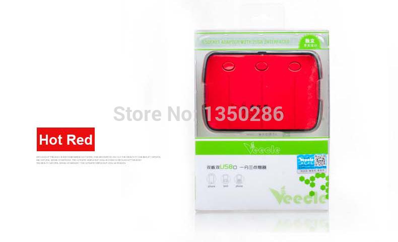 3 Way Auto Car Cigarette Lighter Socket Splitter 12V Charger Power Adapter Plug DC 12V with USB(China (Mainland))