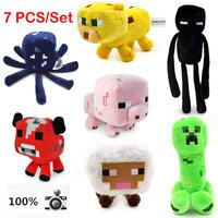 2014 New Stuffed & Plush 7 pcs a lot Kids mini minecraft game plush creeper toys free shipping