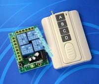 DC 12V 4CH RF Wireless Remote Control System For Garage Doors /Window / Auto Door Smart home controller /radio receiver