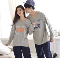 Sports lovers sleepwear casual loose cotton lounge 100% cotton long-sleeve pyjamas set