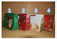 Wholesale x-mas christmas gift bags paper free shipping by fast express