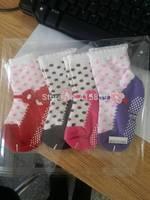 2000pair/lot cotton non-slip mesh baby socks