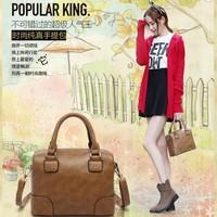 2014 fashion female PU leather handbag messenger bag mini bag