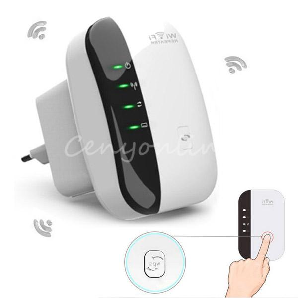 EU Plug Wireless N 802.11N/B/G WPS 300Mbps WiFi Repeater Network for AP Router Range Signal Expander Booster Extend Amplifier(China (Mainland))
