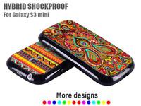 Hotsale Cover For For Samsung Galaxy S3 Mini Black Soft Border Hard Back I8190 Case Skin Rubber Fashion Luxury Premium Wholesale