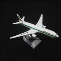 16cm Alloy Metal Italian Air Alitalia Airlines Airplane Model Boeing 777 B777 Airways Plane Model w Stand Aircarft Toy Gift