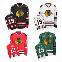 Cheap Chicago Blackhawks Hockey Jerseys #19 Jonathan Toews Jersey C patch Darker Indian Face
