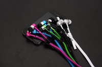 3.5mm Metal Zipper Stereo Bass headsets headphone earphones for Smart mobile phone iphone 4 4S 5 5S Plus Samsung Note HTC 335#