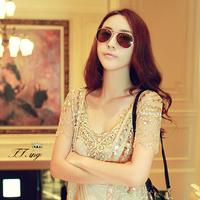 NEWS fashion summer Retro metal sunglasses wholesale sunglasses couple models toad glasses HYL168