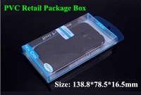 1000pcs 138*78*16mm Clear Blister PVC Plastic Retail Packaging Package Box For iPhone 4S 5 5S Samsung S3 S4 Mobile phone Case