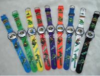 Free Shipping 20pcs/lot Promotion NEW Cute Teenage mutant ninja turtles TMNT 3D cartoons Kids Watch fashion Children wristwatch