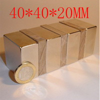 2014 special offer direct selling 2pc 40x40x20mm 40 x 20 powerful magnet craft neodymium permanent strong n50 n52 holds 60kg