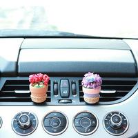car air conditioning auto air vent perfume car ornaments flower basket air freshner