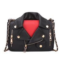 famous brand women handbags   mcdonald 's bucket handbag motorcylce rivet shoulder bag jacket letter mos messenger bags