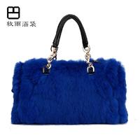 Innumeracy rabbit fur bag 2014 chain autumn and winter women's handbag small bag
