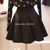 2014 high waist short skirt pleated skirt sheds space cotton puff skirt bust skirt