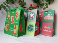 33*27*14cm Wholesale  kraft christmas gift bags paper free shipping by fast express