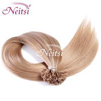 "New 100% Brazilian Pre Bonded  fashion women  Hair Fushion Glue U Tip  Nail  Straight Hair Extension 18""  Highlight 2015"