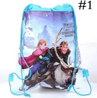 cartoon Frozen  princess trade Double-sided non-woven bags beam port Children drawstring pouch bag