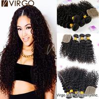 Peruvian Curly Virgin Hair With Closure 3Pcs Human Hair Weave With 1pc Top Closure Unprocessed Virgin Peruvian Hair Black Friday