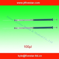 Syringe with extended barrel 100ul