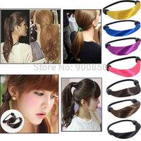 Fashion Women Wig Elastic Hairband Multi Color Synthetic Elastic Hair Band Headband Braid Hairpeice Ponytail Holder Hair Rope