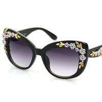 Free Shipping WY6352 Carving Engraving Flower  Sunglasses Personality Chic  Sunglass Glasses