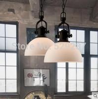 industrial industrial retro LOFT NEW industrial modern simple metal glass dining pendant lamp