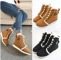 fashion new 2014 winters non-slip short boots  women's warm  short  boots inside velvet
