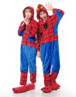 Spider Man Movie Cosplay Costume Anime Onesies Men Women Adult Onesie Pajamas Soft Fleece Pyjamas Jumpsuit Romper Sleepwear
