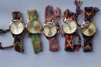 100pcs/lot 2014 new arrival multicolors women dress watches casual quartz wristwatches