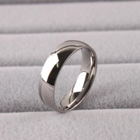 20pcs/lot Wide 6mm Light version SILVER color 316L Stainless Steel finger rings for women jewelry Free shipping wholesale