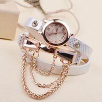 Crazy Hot Buy Korean Fashion New Dress Retro Ladies Bracelet Watches Woman Casual Knit Long Leather Quartz Watch