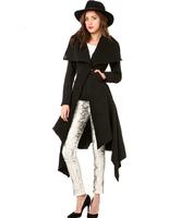 Free Shipping New Design Fall/Winter Women Coat Single Button fishtail lower hem Woollen Coat Women's Long Wool Winter Coats