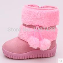 2014 de invierno nueva moda botas de nieve, botas lindas chica ( 13 cm - 22 cm )(China (Mainland))
