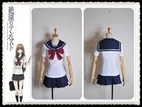 Blast of Tempest Aika Fuwa Girl Uniform Cosplay Costume Custom Made Free Shipping