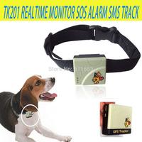 Pets Dog Cat Child children Elderly Mini Quad-band GPRS/GSM/GPS Tracker system XEXUN TK201 Realtime Monitor SOS Alarm SMS Track