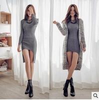 2014 winter new Korean fashion Slim bottoming thick cotton dress women Slim display
