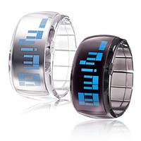 New arrival fashion Couple's Futuristic Blue LED Digital Wrist Watches black white color fashion stylish watch hot selling